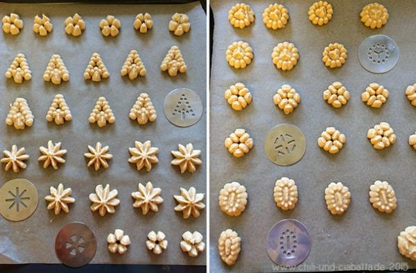 Kekse mit der elektrischen Gebäckpresse