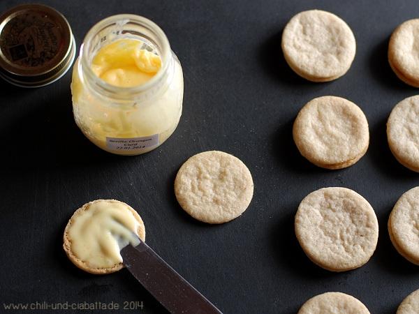 Walnuss-Zimt-Kekse mit Sevilla-Orangen Curd