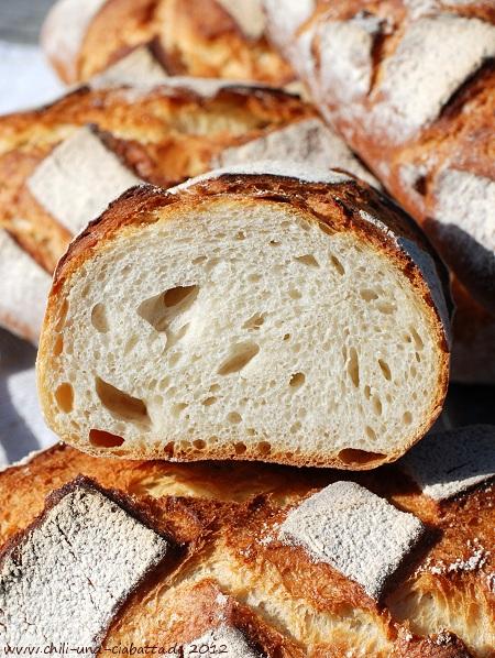 Brot mit Kartoffelflocken, Anschnitt