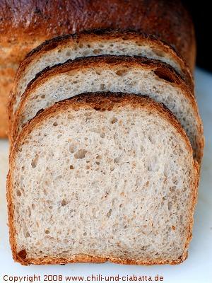 Sursött Bröd aufgeschnitten