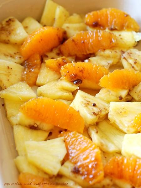 Ananas und Orange